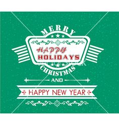 Merry christmas and happy new year card vector by thanhtrong007 on VectorStock®