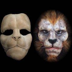 lion foam latex halloween mask prosthetic