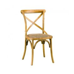 Natural Wood Cross Chair, a rustic chair and at the same time modern. Cross Back Dining Chairs, Oz Design Furniture, Chair Design Wooden, Madeira Natural, Rustic Chair, Buy Chair, Wood Crosses, Cafe Chairs, Modern Chairs