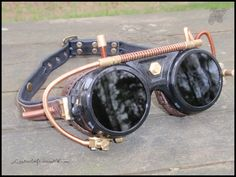 steampunk goggles | Steampunk Goggles by LeatherCraft