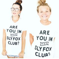 Are you in the Slyfox Club tees available @ slyfoxthreads.com.