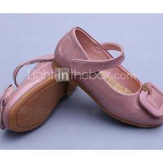 Girl's Flats Comfort PU Casual Black / Green / Pink / Gray