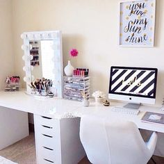 cute setup vanity / desk