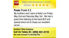 My brothers and I were at Kelly's on Friday May 2nd and Saturday May 3rd. We had a...