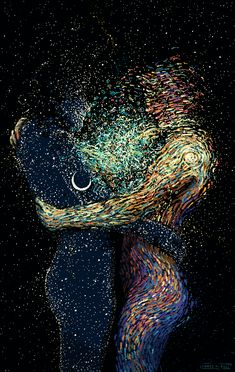 """Old Friends"" Art by JAMES R. EADS.  Motion by the Glitch"
