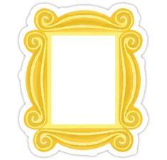 Graduation Signs Discover Frame Sticker Sticker by Lauren Glynn Friends Door Frame, Friends Picture Frame, Friends Poster, Friends Font, Friends Cake, Friends Wallpaper, Tumblr Stickers, Frame Template, Graduation Pictures