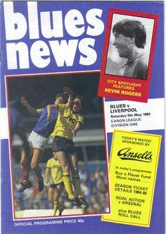 Birmingham City v Liverpool Football Programme 1st Division 05/05/1984