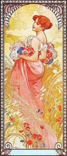 Alphonse Mucha -The Seasons Series; Summer, 1900.