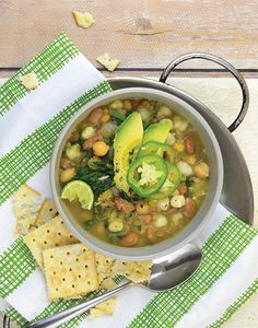 Green and White Chili Bowl from #Vegan Bowls by Zsu Dever @zsudever