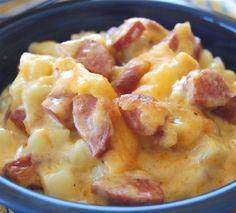 Cheese, Potato & Smoked Sausage Casserole