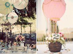 hot air ballon decor...how friggin cute