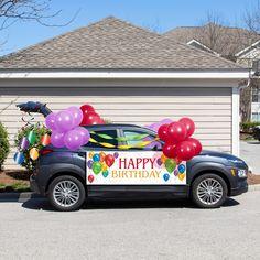 Happy Birthday Text, Happy Birthday Gifts, 40th Birthday, Birthday Parties, 5 Balloons, Latex Balloons, Graduation Decorations, Balloon Decorations, Balloon Garland