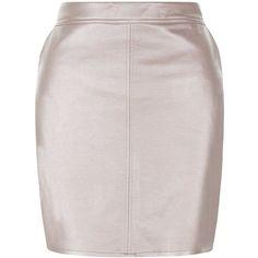 Teens Pink Metallic A-Line Skirt (€20) ❤ liked on Polyvore featuring skirts, metallic a line skirt, metallic skirt, pink knee length skirt, a-line skirts and pink a line skirt