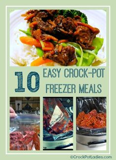 10 crockpot freezer meals