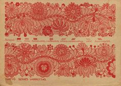 Hungarian embroidery pattern. One for the cold, long winters and for those with brilliant eyesight and the patience of Job!