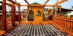 Cargo net activity Playground (this site has some neat ideas and pictures)