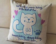 "The Big Bang Theory ""Soft Kitty"" Cushion Cover"