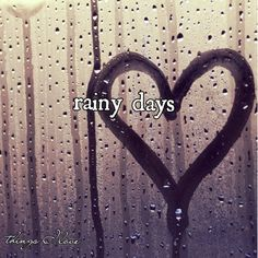 staying home and watching a movie on a rainy day, playing in the rain, kissing in the rain, listening to rain on the roof while we stay in bed late... just love the rain!