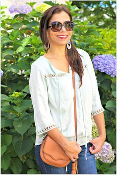 Love this light boho blouse, @theboxqueen!