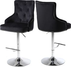 Free 2-day shipping. Buy Claude Black Velvet Adjustable Stool-Color:Black Velvet,Finish:Chrome,Style:Contemporary at Walmart.com