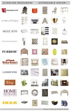 10 places to shop online for home decor