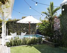 Laid Back Byron Bay Beach House ~ Stace King Porches, Landscape Design, Garden Design, Byron Bay Beach, Small Pool Design, Swimming Pool Designs, Magnolia Homes, Outdoor Living, Outdoor Decor