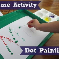 Fun and simple ideas for learning names. Dot Painting Name Activity is a fun and simple way to introduce your child to recognising their name and the letters that make up their name. #alphabetactivities #nameactivities #paintingactivities