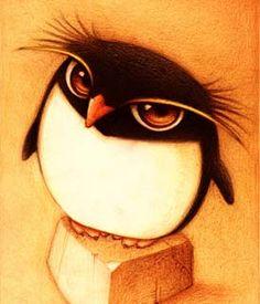 Dibujo de un pingüino (Título: Un pingüino, Autor: Faboarts)