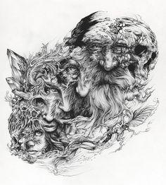DZO est un artiste autodidacte et designer freelance du sud de la France, diplômé de l'École des Beaux-Arts de Toulouse. Cette série d'illustration intitulé Draw'Ink flirte avec l…