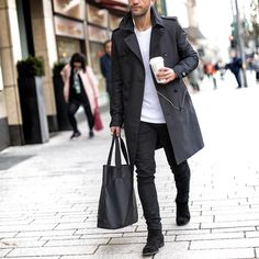 """Trench coat jeans and chelsea boot by @kosta_williams [ <a href=""""http://ift.tt/1f8LY65"""" rel=""""nofollow"""" target=""""_blank"""">ift.tt/1f8LY65</a> ]"""