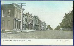Main Street Looking South, Pella, Iowa 1908 : eBay