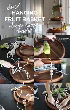 always rooney Wooden Hanging Fruit Basket DIY Home Decor Baskets, Diy Home Decor, Hanging Fruit Baskets, Cocina Diy, Diy Crafts How To Make, Bois Diy, Diy Hanging, Christmas Diy, Christmas Presents