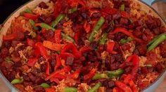 Colourful chorizo, cumin and tomato rice
