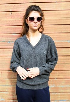 13c16e706f619b Pringle Grey Wool Jumper