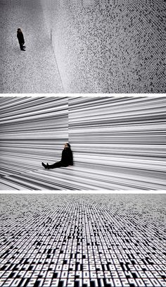 Ryoji Ikeda seeks to materialise pure data.