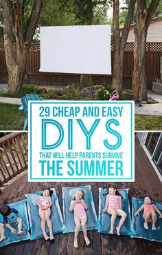 These are so awesome!  29 Cheap And Easy DIYs That Will Help Parents Survive The Summer