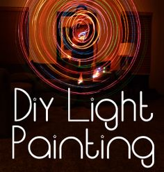 Tips on how to do Light Painting Photography with objects you may already have at home, such as Christmas Lights. :)