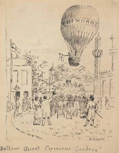 Walter Greaves (1846-1930) Balloon ascent, Cremorne Gardens, Chelsea