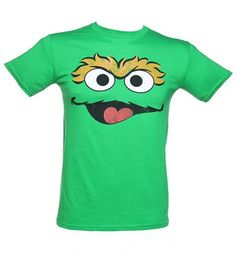 Men's Oscar Face Sesame Street T-Shirt #TSVDAYCOMP