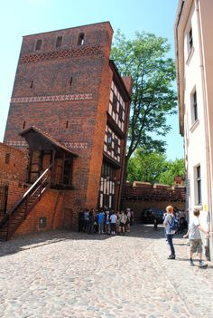 Torun , Poland. The tower is slightly crooked and according to legends if you can send and not fall while your back is against it, it means you've never lied.