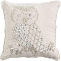 Pier 1 Imports Snow Owl Pillow - Polyvore