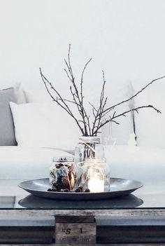 décoration de Noël créative à poser sur la table basse
