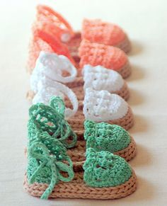 knitted baby sandals free pattern | Baby-crochet-shoes-Baby-girls-knit-Espadrille-Sandals-Crochet-Pattern ...