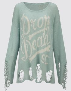 Knitted Jumper, Drop Dead Clothing  #DDPINTOWIN