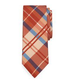 Summer Madder Plaid Print Tie - Brooks Brothers