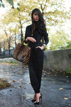CHICMUSE Stella McCartney jumpsuit, Gucci bamboo bag, Christian Louboutin pigalle, Baume et Mercier Clifton watch, American Apparel lace bra