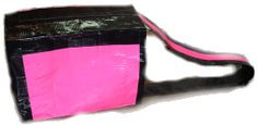 Little girl wants duct tape purses for a craft activity.  Guests can use to take Davies home.