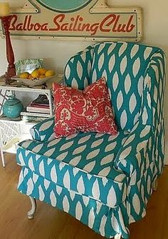Frugalicious Me: Wingback Chair Slipcover