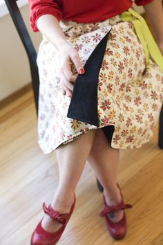 Reversible Skirt tutorial (with pokets)- Jupe reversible (avec poches) Diy Clothing, Sewing Clothes, Clothing Patterns, Gypsy Clothing, Wrap Skirt Tutorial, Diy Rock, Vestidos Chiffon, Reversible Skirt, Wrap Around Skirt