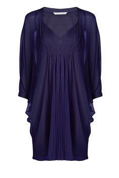 So easy to wear! Fleurette Silk Chiffon Kaftan Dress